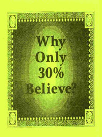 Pamphlet - Why Only 30% Believe
