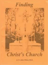 Pamphlet - Finding Christ's Church