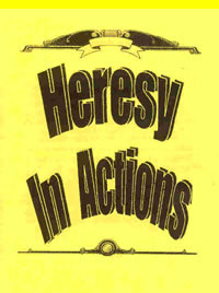 Pamphlet - Heresy In Actions