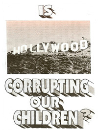 Pamphlet - Is Hollywood Corrupting our Children